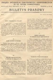 Biuletyn Prasowy. 1937, nr9