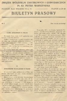 Biuletyn Prasowy. 1938, nr2