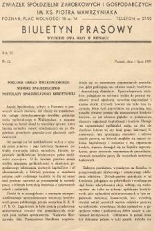 Biuletyn Prasowy. 1939, nr12