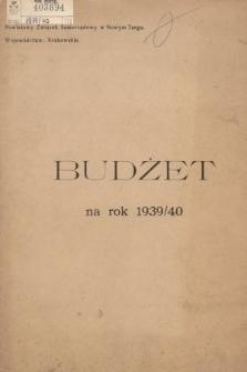 Budżet na Rok 1939-1940