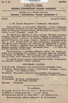 Okólnik Związku Stowarzyszeń Polskiej Młodzieży Męskiej. 1924, nr2