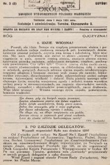 Okólnik Związku Stowarzyszeń Polskiej Młodzieży. 1924, nr3