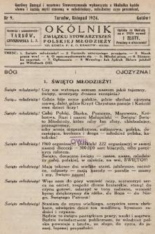 Okólnik Związku Stowarzyszeń Polskiej Młodzieży. 1924, nr9