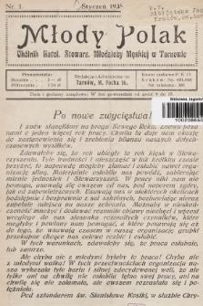 Młody Polak : okólnik Katol. Stowarz. Młodzieży Męskiej w Tarnowie. 1935, nr1