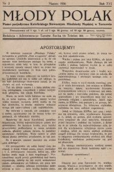 Młody Polak : pismo perjodyczne Katolickiego Stowarzysz. Młodzieży Męskiej w Tarnowie. 1936, nr3
