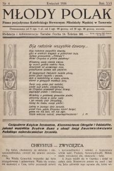 Młody Polak : pismo perjodyczne Katolickiego Stowarzysz. Młodzieży Męskiej w Tarnowie. 1936, nr4