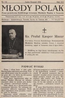 Młody Polak : pismo perjodyczne Katolickiego Stowarzysz. Młodzieży Męskiej w Tarnowie. 1936, nr7-8