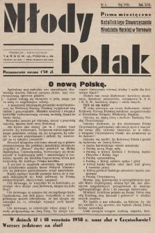 Młody Polak : pismo miesięczne Katolickiego Stowarzyszenia Młodzieży Męskiej w Tarnowie. 1938, nr5
