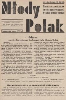 Młody Polak : pismo miesięczne Katolickiego Stowarzyszenia Młodzieży Męskiej w Tarnowie. 1938, nr6-7