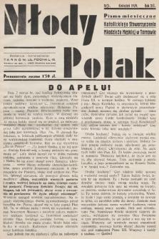 Młody Polak : pismo miesięczne Katolickiego Stowarzyszenia Młodzieży Męskiej w Tarnowie. 1939, nr4
