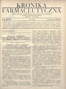 Kronika Farmaceutyczna : organ Związku Zawodowego Farmaceutów-Pracowników w Rzeczypospolitej Polskiej. 1935, nr22