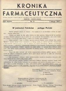 Kronika Farmaceutyczna : organ Związku Zawodowego Farmaceutów-Pracowników w Rzeczypospolitej Polskiej. 1937, nr3