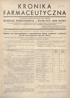 Kronika Farmaceutyczna : organ Związku Zawodowego Farmaceutów-Pracowników w Rzeczypospolitej Polskiej. 1937, nr24