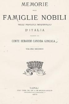 Memorie delle famiglie nobili delle Province Meridionali d'Italia. Vol. 2