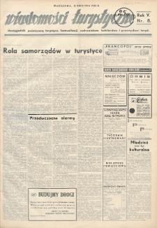 Wiadomości Turystyczne : dwutygodnik poświęcony turystyce, komunikacji, uzdrowiskom, hotelarstwu i przemysłowi turyst. R. 5, 1935, nr8