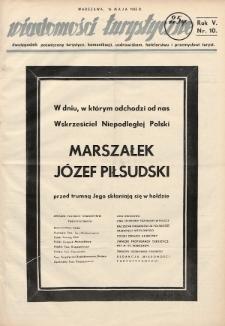 Wiadomości Turystyczne : dwutygodnik poświęcony turystyce, komunikacji, uzdrowiskom, hotelarstwu i przemysłowi turyst. R. 5, 1935, nr10