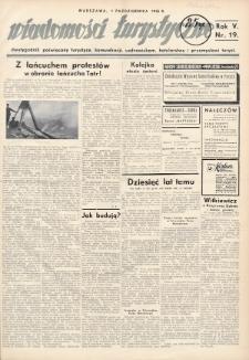 Wiadomości Turystyczne : dwutygodnik poświęcony turystyce, komunikacji, uzdrowiskom, hotelarstwu i przemysłowi turyst. R. 5, 1935, nr19