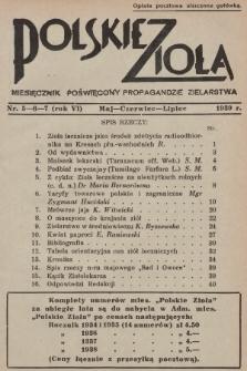 Polskie Zioła : czasopismo poświęcone propagandzie zielarstwa. 1939, nr5-6-7