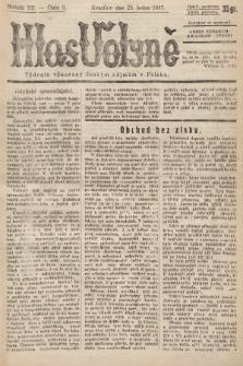 Hlas Volyně : týdeník, věnovaný českým zájmům v Polsku. 1937, č.3