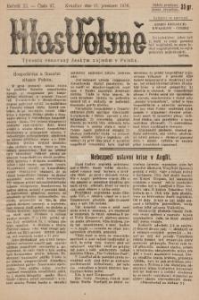 Hlas Volyně : týdeník, věnovaný českým zájmům v Polsku. 1936, č.47