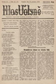 Hlas Volyně : týdeník, věnovaný českým zájmům v Polsku. 1936, č.49-50