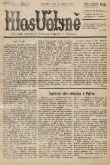 Hlas Volyně : týdeník, věnovaný českým zájmům v Polsku. 1937, č.6