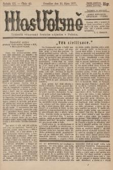 Hlas Volyně : týdeník, věnovaný českým zájmům v Polsku. 1937, č.40