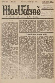 Hlas Volyně : týdeník, věnovaný českým zájmům v Polsku. 1937, č.42