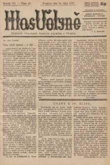 Hlas Volyně : týdeník, věnovaný českým zájmům v Polsku. 1937, č.43