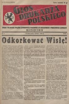 Głos Drukarza Polskiego : organ Polskiego Związku Zawodowego Pracowników Drukarskich i Pokrewnych Zawodów. 1939, nr5