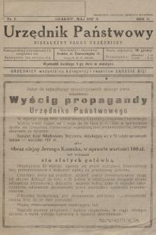 Urzędnik Państwowy : niezależny organ urzędniczy. 1927, nr5