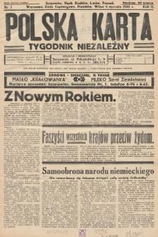 Polska Karta : tygodnik niezależny. 1935, nr1