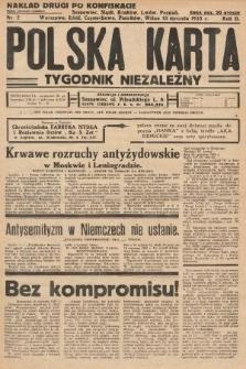Polska Karta : tygodnik niezależny. 1935, nr2 (nakład drugi po konfiskacie)
