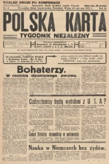 Polska Karta : tygodnik niezależny. 1935, nr3 (nakład drugi po konfiskacie)