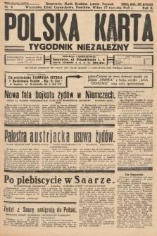 Polska Karta : tygodnik niezależny. 1935, nr4