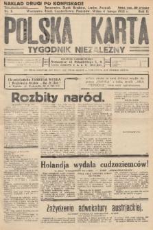 Polska Karta : tygodnik niezależny. 1935, nr5 (nakład drugi po konfiskacie)