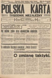 Polska Karta : tygodnik niezależny. 1935, nr8