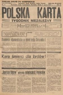 Polska Karta : tygodnik niezależny. 1935, nr9 (nakład drugi po konfiskacie)