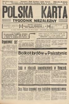 Polska Karta : tygodnik niezależny. 1935, nr11