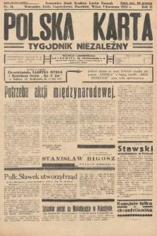 Polska Karta : tygodnik niezależny. 1935, nr14