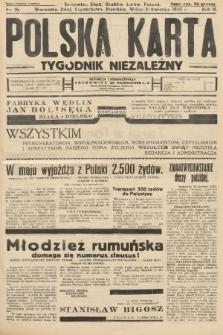 Polska Karta : tygodnik niezależny. 1935, nr16