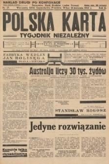Polska Karta : tygodnik niezależny. 1935, nr17 (nakład drugi po konfiskacie)