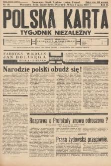 Polska Karta : tygodnik niezależny. 1935, nr18