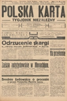 Polska Karta : tygodnik niezależny. 1935, nr19