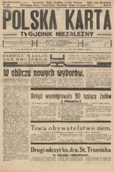 Polska Karta : tygodnik niezależny. 1935, nr20