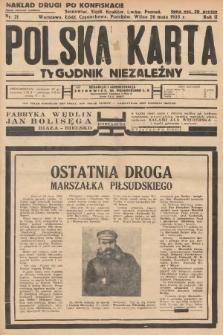 Polska Karta : tygodnik niezależny. 1935, nr21 (nakład drugi po konfiskacie)