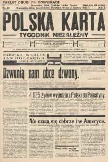 Polska Karta : tygodnik niezależny. 1935, nr22 (nakład drugi po konfiskacie)