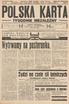 Polska Karta : tygodnik niezależny. 1935, nr23