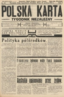 Polska Karta : tygodnik niezależny. 1935, nr26