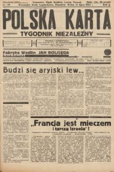 Polska Karta : tygodnik niezależny. 1935, nr29